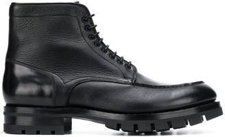 Santoni Lace-Up Detail Boots