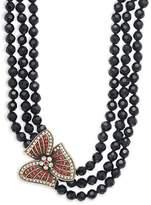 Heidi Daus Women's Holiday Asymmetric Beaded Multi-Strand Necklace