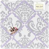 Sweet Jojo Designs Elizabeth Fabric Memo Board in Lavender/Grey