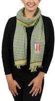 Moschino Scr10981/1 Yellow/blue Gingham Scarf.