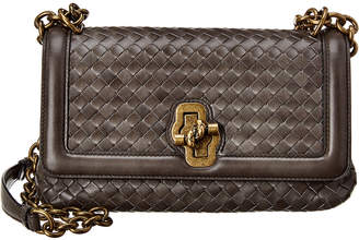 Bottega Veneta Olimpia Knot Intrecciato Leather Shoulder Bag