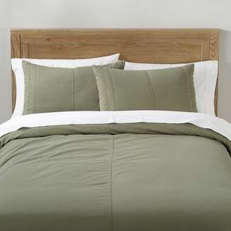 Pottery Barn Teen Essential Cargo Duvet Cover, Full/Queen, Washed Olive