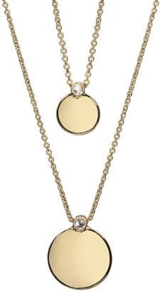 Lauren Conrad Gold Tone Disc Multi Row Necklace