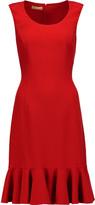 Michael Kors Ruffled stretch-wool dress