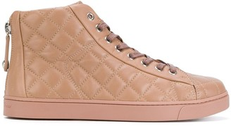 Gianvito Rossi Quilted Lace-Up Hi Tops