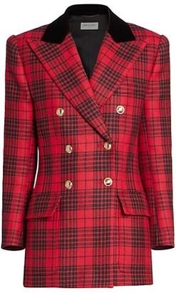 Saint Laurent Prince de Galles Tartan Double Breasted Jacket