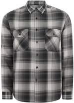 Topman Grey Casual Patchwork Shirt