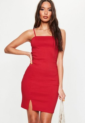 Missguided Red Cami Bodycon Dress