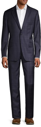 Hickey Freeman Milburn IIM Series Classic-Fit Windowpane Wool Suit