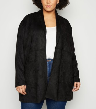 New Look Curves Suedette Duster Jacket