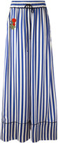 Off-White striped flared pants - women - Silk/Cotton/Cupro - M