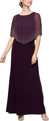 Alex Evenings Embellished Popover Gown