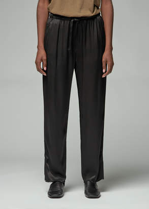 Raquel Allegra Women's Crepe Back Satin Drawstring Trouser Pants in Black Size 1 Viscose/Rayon