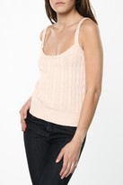 Ralph Lauren Womens Pink Cable Knit Tank Top In Large