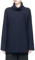 The Row 'Jose' foldover turtleneck cashmere-silk sweater