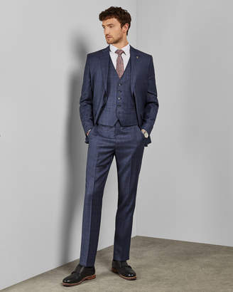 Ted Baker WHARFEW Debonair checked wool waistcoat