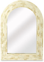 One Kings Lane Collection Dafna Arched Bone-Inlay Wall Mirror, White