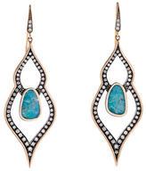 Moritz Glik Turquoise and Diamond Earrings
