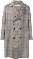 Golden Goose Deluxe Brand checked double-breasted coat - men - Polyester/Cupro - M