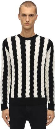 Saint Laurent Cable Knit Wool Sweater