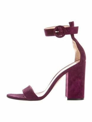 Gianvito Rossi Suede Sandals Purple