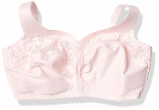 Glamorise Women's Full Figure Plus Size MagicLift Cotton Wirefree Support Bra #1280