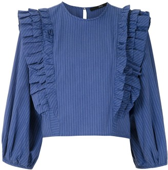 Eva Ruffled Cropped Blouse