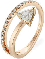 Delfina Delettrez Marry Me 18kt Pink Gold Ring with Diamonds