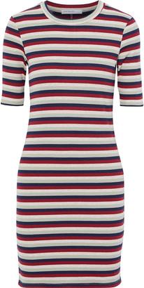 Stateside Striped Ribbed-knit Mini Dress