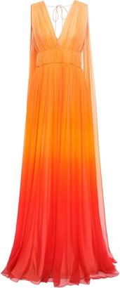 Alberta Ferretti Gathered Degrade Silk-chiffon Gown