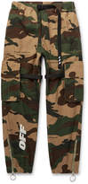 Off-White - Webbing-Trimmed Camouflage-Print Cotton-Ripstop Cargo Trousers