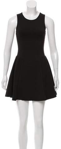 Aqua Flared Mini Dress