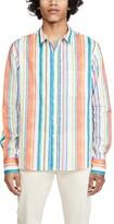 Simon Miller Long Sleeve Multi Striped Shirt
