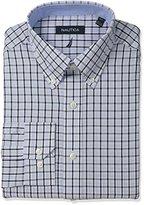 Nautica Men's Check Shirt with Button Down Collar with White Check Buttondown Collar