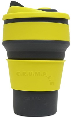 CRUMPLE Sol & Dust Collapsible Reusable Eco Coffee Cup 350ml Yellow & Grey