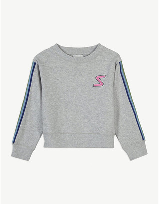 Stella McCartney Rainbow tape organic cotton jumper 4-16 years