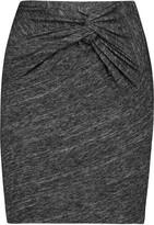 IRO Louisa twisted slub cotton-blend mini skirt