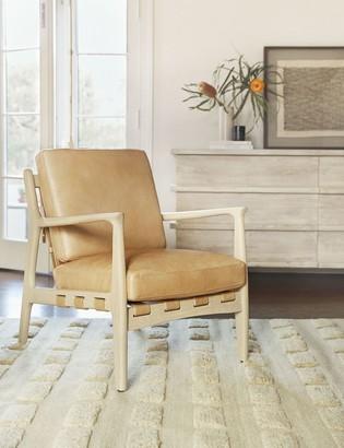 Lulu & Georgia Kenneth Leather Chair, Sahara Tan