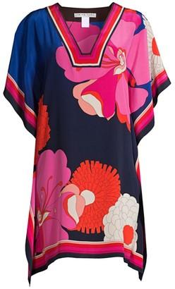 Trina Turk Jet Set Jungle Theodora Printed Silk Dress