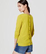 LOFT Button Back Sweater
