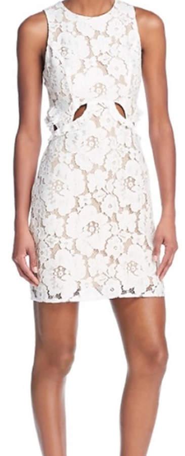 WAYF Drake White Lace Cut Out Dress