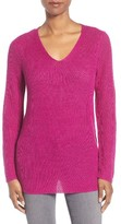 Eileen Fisher Petite Women's V-Neck Organic Linen Sweater