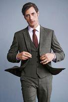 Next Light Grey Check Suit: Waistcoat