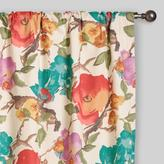 Cost Plus World Market Watercolor Floral Concealed Tab Top Curtains, Set of 2