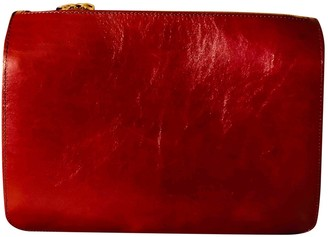 A.P.C. Burgundy Patent leather Clutch bags