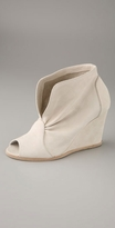 Open Toe Wedge Bootie