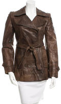 Philosophy di Alberta Ferretti Leather Trench Coat