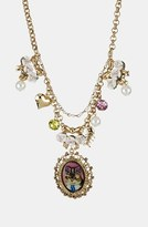 Betsey Johnson 'Vintage Bow - Kitty Cameo' Pendant Necklace