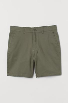 H&M Cotton Chino Shorts - Green