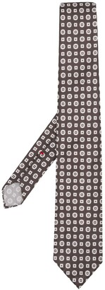 Dell'oglio Geometric-Print Pointed Tie